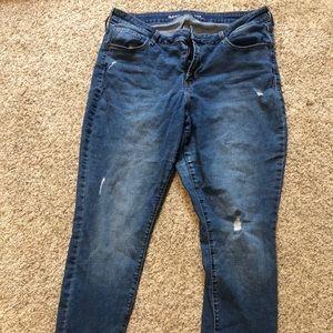 Old Navy Rockstar Distressed Jeans Sz 14 Short